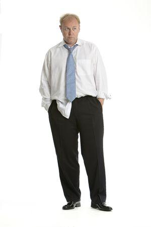 untidy: Worried business man Stock Photo