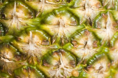 Macro image of the skin of a pineapple Stock Photo