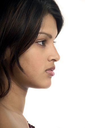 Beautiful exotic woman in profile