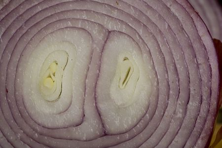Macro image of the inside of a red onion Stock Photo