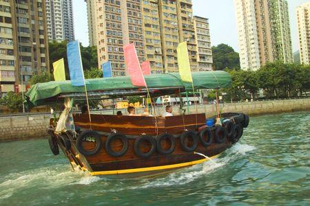 Touring Aberdeen Harbour in  Hong Kong