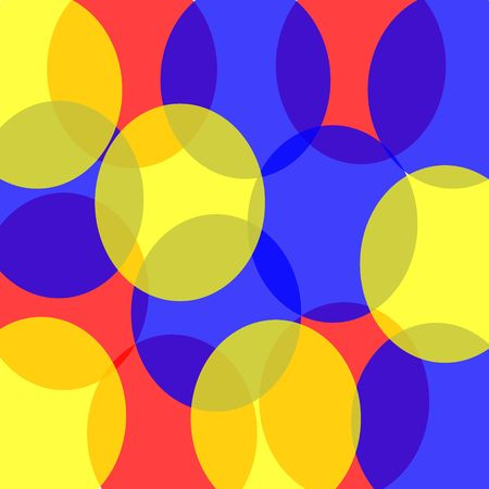 Transparent retro circles in red, blue, and yellow create a fun blast from the past background. Stock Photo - 4855356
