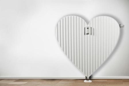 Energy saving concept,radiator in form. Costs saving