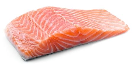 Fresh salmon filet isolated on white background Stockfoto
