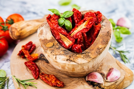 Sun dried tomatoes with herbs and sea salt