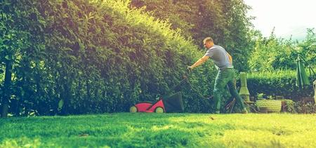 Lawn mower mower grass equipment mowing gardener care work tool.