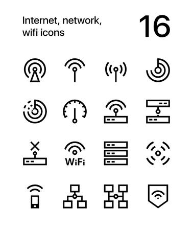 インターネット、ネットワーク、web とアプリの wifi アイコン