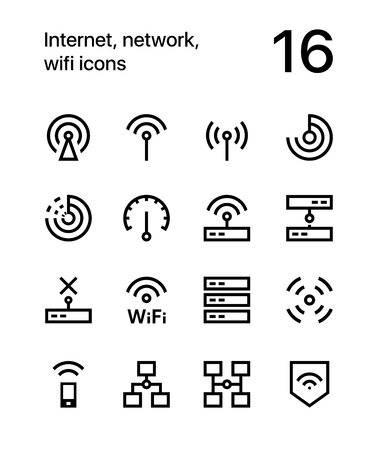 Internet, network, wifi icons for web and apps