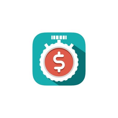 Finance flat icon, vector illustration.