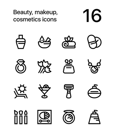 shaver: Beauty, cosmetics, makeup icons for web and mobile design pack 3