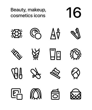 美容、化粧品、web と携帯電話のデザインの化粧アイコン パック 4