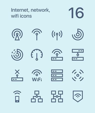 インターネット、ネットワーク、web とアプリの wifi アイコンを概要します。