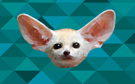 Low poly fennec fox wallpaper