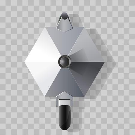 caffettiera in acciaio realistica isolata dall'alto