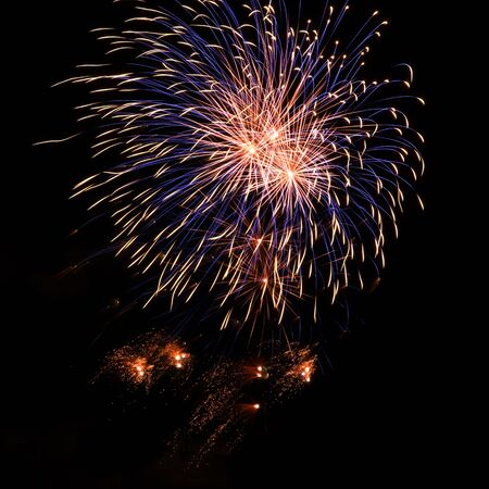 Stunning fireworks display against a black sky at an event in Koblenz, Germany.