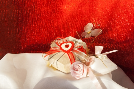 beloved: Morning surprise  Gifts for the beloved  On white satin