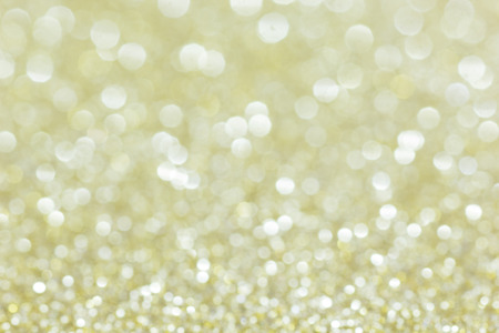Golden Abstract Christmas Background. Defocused Bokeh Lights. photo