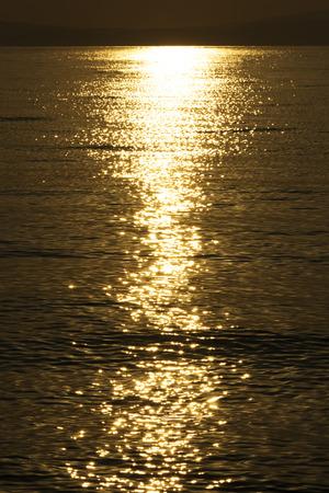 expanse: Expanse of the sea against the sunrise sky. Seascape Background. Stock Photo