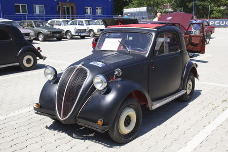 old timer: SKOPJE MACEDONIA  JUNE 13 2015: Fiat Topolino on 10th Old Timer Car Show June 13 2015 in Skopje. The event organized by Euroimpex from Skopje. Editorial