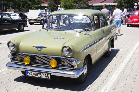 old timer: SKOPJE MACEDONIA  JUNE 13 2015: Oldtimers Classic Cars presented on 10th Old Timer Car Show June 13 2015 in Skopje. The event organized by Euroimpex from Skopje.