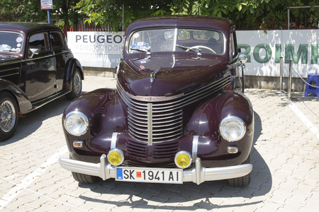 old timer: SKOPJE MACEDONIA  JUNE 13 2015: Old Opel on 10th Old Timer Car Show June 13 2015 in Skopje. The event organized by Euroimpex from Skopje. Editorial