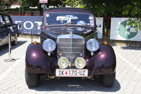 old timer: SKOPJE MACEDONIA  JUNE 13 2015: Old Mercedes on 10th Old Timer Car Show June 13 2015 in Skopje. The event organized by Euroimpex from Skopje.