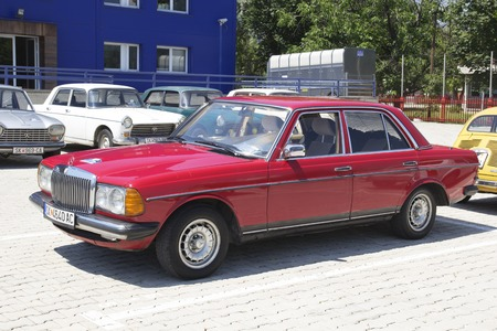 old timer: SKOPJE MACEDONIA - JUNE 13 2015: Old Mercedes on 10th Old Timer Car Show, June 13, 2015 in Skopje. The event organized by Euroimpex from Skopje. Editorial