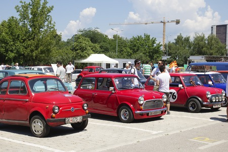 old timer: SKOPJE MACEDONIA - JUNE 13 2015: Oldtimers Classic Cars presented on 10th Old Timer Car Show, June 13, 2015 in Skopje. The event organized by Euroimpex from Skopje. Editorial