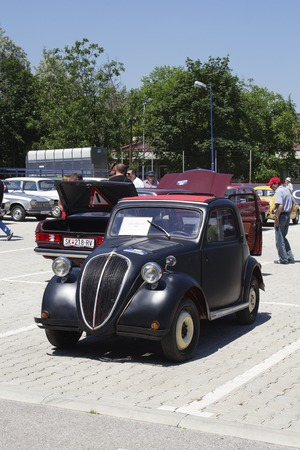 old timer: SKOPJE MACEDONIA - JUNE 13 2015: Fiat Topolino on 10th Old Timer Car Show, June 13, 2015 in Skopje. The event organized by Euroimpex from Skopje. Editorial