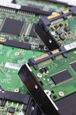 sata: SATA and ATA Hard Disk Connector, Close Up Image.