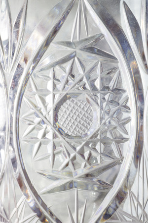 crystal glass: Close Up of Detail of a Crystal Glass. Abstract Background.