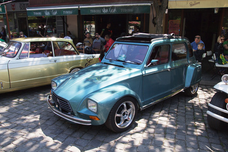 old timer: SKOPJE MACEDONIA - MAY 07 2016: Old Citroen on 11th Old Timer Car Show, May 07, 2016 in Skopje. The event organized by Euroimpex from Skopje.