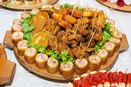 Food For Christmas Party.Christmas Party Food Stock Photos And Images 123rf
