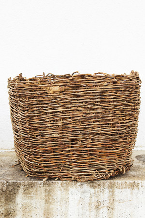 Ancient woven basket from Macedonian village more than 80 years old.