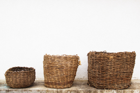 Ancient woven baskets from Macedonian village more than 80 years old.