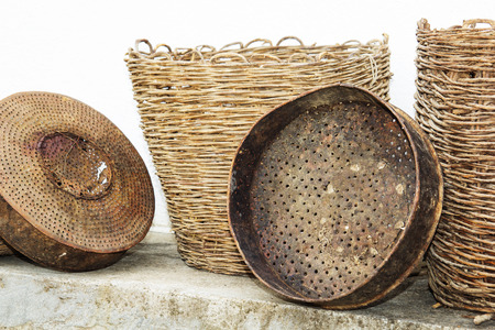 The old traditional Macedonian аntique household utensils.