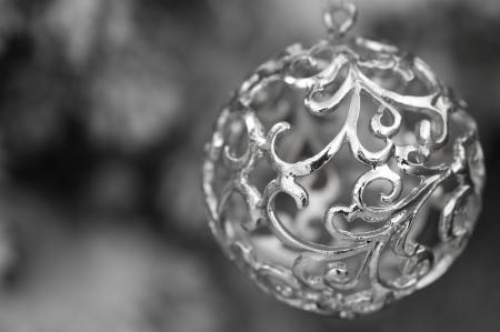 Zilveren Kerstdecoratie met wervelingen