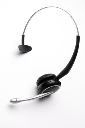 Wireless Telephone Headset on White Background photo