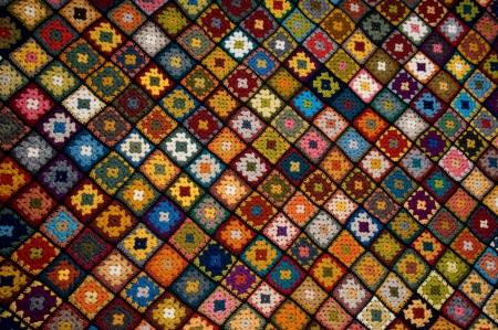 Afghanische von Granny squares Standard-Bild - 8525629