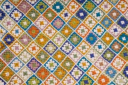 Baby blanket of granny squares Stock Photo - 8525628