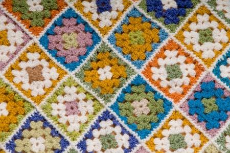 Baby blanket of granny squares Stock Photo - 8525625