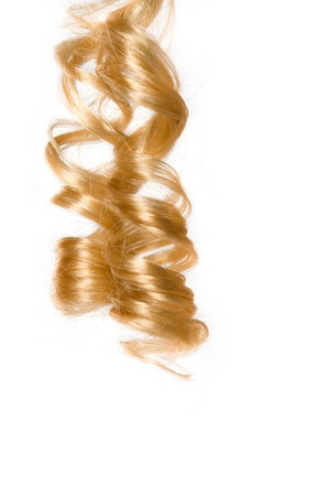 Blonde corkscrew hair