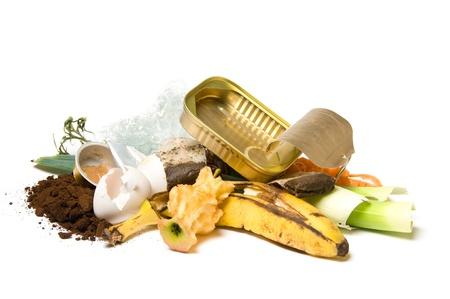 Ander soort trash, zowel organische en geen organische Stockfoto