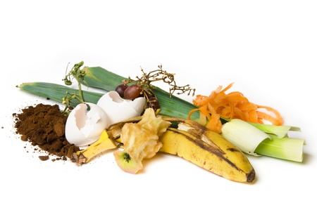 Fruit and other things that can be used as compost Stock Photo - 8550307