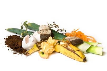 Fruits et autres choses qui peuvent être utilisés comme compost Banque d'images - 8550296
