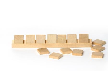 Lege vierkante houten tegels