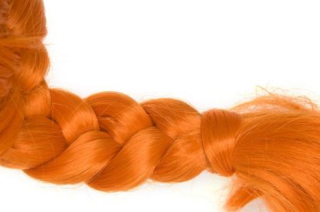 Rode gevlochten haren als pippi Langkous Stockfoto