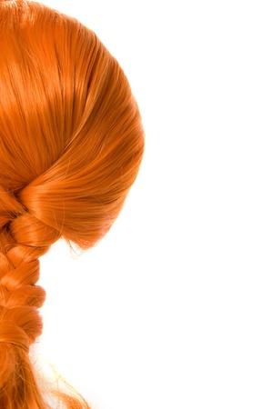trenzas en el cabello: Cabello trenzado rojo como pippi Calzaslargas