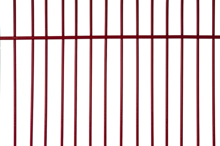 Red metal bars with white background Stock Photo - 8705146
