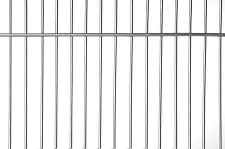 Zilver metalen staven met witte achtergrond Stockfoto